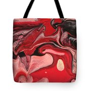 Abstract - Nail Polish - Raspberry Nebula Tote Bag by Mike Savad