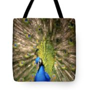 Abstract Peacock Digital Artwork Tote Bag by Georgeta Blanaru