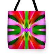 Abstract Pink Tree Symmetry Tote Bag by Amy Vangsgard