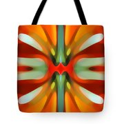 Abstract Red Tree Symmetry Tote Bag by Amy Vangsgard