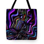 Abstract  Rhythm A Contemporary Modern Digital Art Tote Bag by Annie Zeno