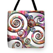Abstract - Spirals - Wonderland Tote Bag by Mike Savad