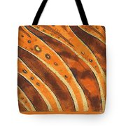 Abstract Tiger Stripes Tote Bag by Pixel Chimp