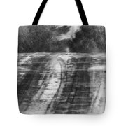 Abstract Winter Storm Tote Bag by Thomas Young