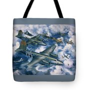 Achtung Zweimots Tote Bag by Randy Green