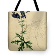 Aconitum Napellus by Sowerby Tote Bag by Philip Ralley
