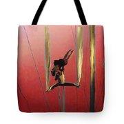 Acrobatic Aerial Artistry1 Tote Bag by Anne Mott