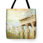 Acropolis Of Athens Tote Bag by Catf