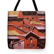 Adobe Village - Peru Impression II Tote Bag by Xueling Zou