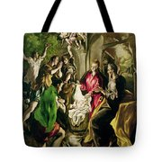 Adoration Of The Shepherds Tote Bag by El Greco Domenico Theotocopuli