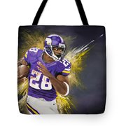 Adrian Peterson Tote Bag by Don Medina