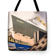 Advertisement For The Holland America Line Tote Bag by Hoff