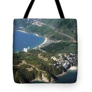 Aerial  of Acapulco Bay Mexico from Both Sides Tote Bag by Jodi Jacobson