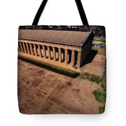 Aerial Photography Of The Parthenon Tote Bag by Dan Sproul