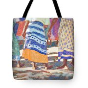 African Colors Tote Bag by Tracy L Teeter