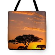 African Sunset Tote Bag by Sebastian Musial