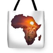 African Wildlife Map Tote Bag by Johan Swanepoel