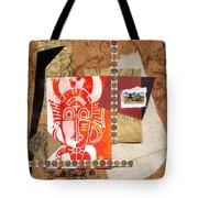 Afro Collage A Tote Bag by Everett Spruill