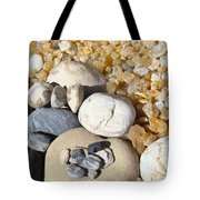 Agates Rocks Art Prints Petrified Wood Fossils Tote Bag by Baslee Troutman