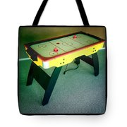 Air Hockey Table Tote Bag by Les Cunliffe