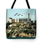 Alcatraz Blues Tote Bag by Benjamin Yeager