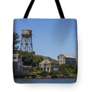 Alcatraz Dock And Water Tower Tote Bag by John McGraw