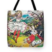 Alice In Wonderland Tote Bag by Jesus Blasco