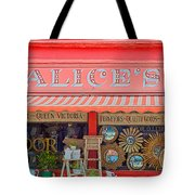 Alice's Antiques Tote Bag by Georgia Fowler