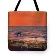 Alice's Topsail Island Tea Tote Bag by Betsy C  Knapp