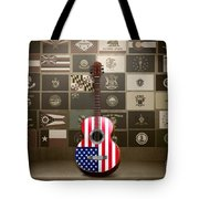 All State Flags - Retro Style Tote Bag by Bedros Awak