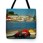 Alls Quiet In The Harbor Tote Bag by Karol  Livote