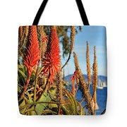 Aloe Vera Bloom Tote Bag by Mariola Bitner