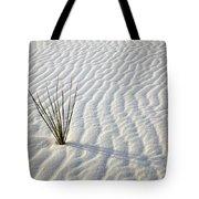 Alone In A Sea Of White Tote Bag by Mike  Dawson