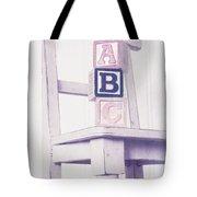 Alphabet Blocks Chair Tote Bag by Edward Fielding