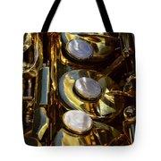 Alto Sax Reflections Tote Bag by Ken Smith