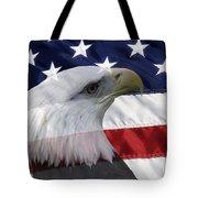 American Flag And Bald Eagle Tote Bag by Jill Lang