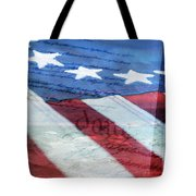 American Flag Tote Bag by Christina Rollo