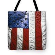 American flag Tote Bag by Tony Cordoza
