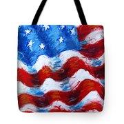 American Flag Tote Bag by Venus