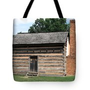 American Log Cabin Tote Bag by Frank Romeo