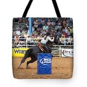 American Rodeo Female Barrel Racer Dark Horse Iv Tote Bag by Sally Rockefeller