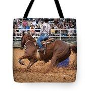 American Rodeo Female Barrel Racer White Blaze Chestnut Horse IIi Tote Bag by Sally Rockefeller