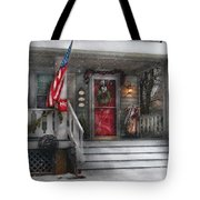 Americana - A Tribute To Rockwell - Westfield Nj Tote Bag by Mike Savad