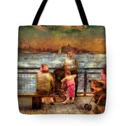 Americana - People - Jewish Families Tote Bag by Mike Savad