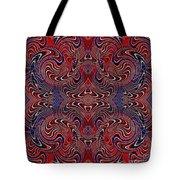 Americana Swirl Design 2 Tote Bag by Sarah Loft