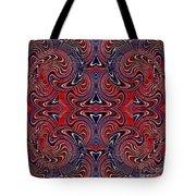 Americana Swirl Design 3 Tote Bag by Sarah Loft