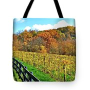 Amish Vinyard Two Tote Bag by Frozen in Time Fine Art Photography