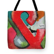 Ampersand Love Tote Bag by Linda Woods