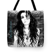 Amy Winehouse Tote Bag by Barbara Chichester