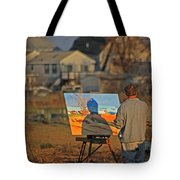 An Artist At Work Tote Bag by Karol Livote